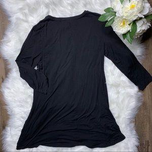 LOGO by Lori Goldstein Dresses - ❤️SOLD❤️ LOGO by Lori Goldstein Black Tunic Top •